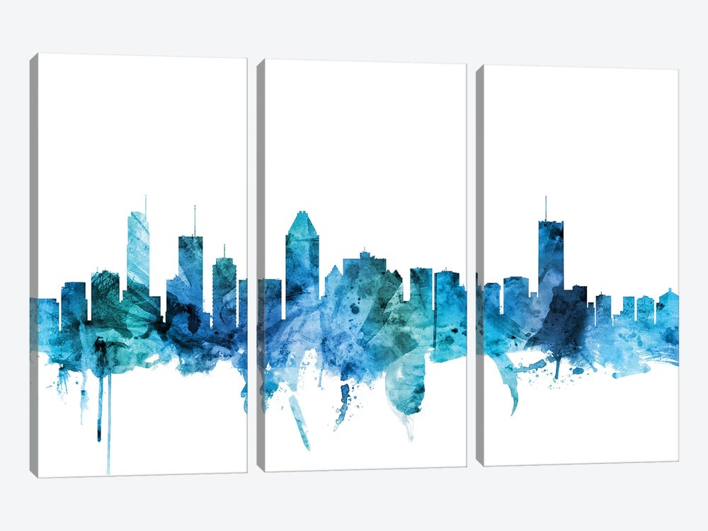 Montreal, Canada Skyline by Michael Tompsett 3-piece Art Print