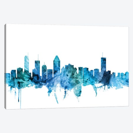 Montreal, Canada Skyline Canvas Print #MTO1483} by Michael Tompsett Canvas Artwork