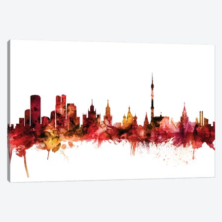 Moscow, Russia Skyline Canvas Print #MTO1484} by Michael Tompsett Canvas Art Print