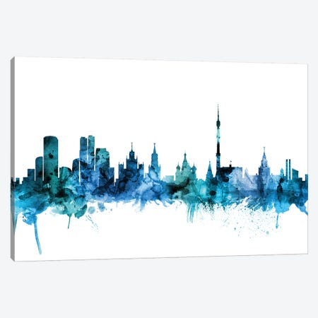 Moscow, Russia Skyline Canvas Print #MTO1485} by Michael Tompsett Canvas Art Print
