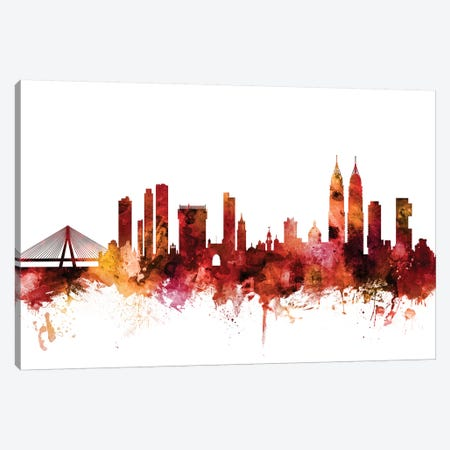 Mumbai, Skyline India  Canvas Print #MTO1486} by Michael Tompsett Canvas Print