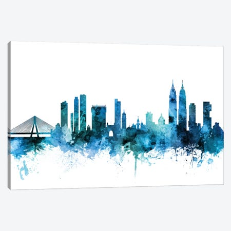 Mumbai, Skyline India  Canvas Print #MTO1487} by Michael Tompsett Art Print