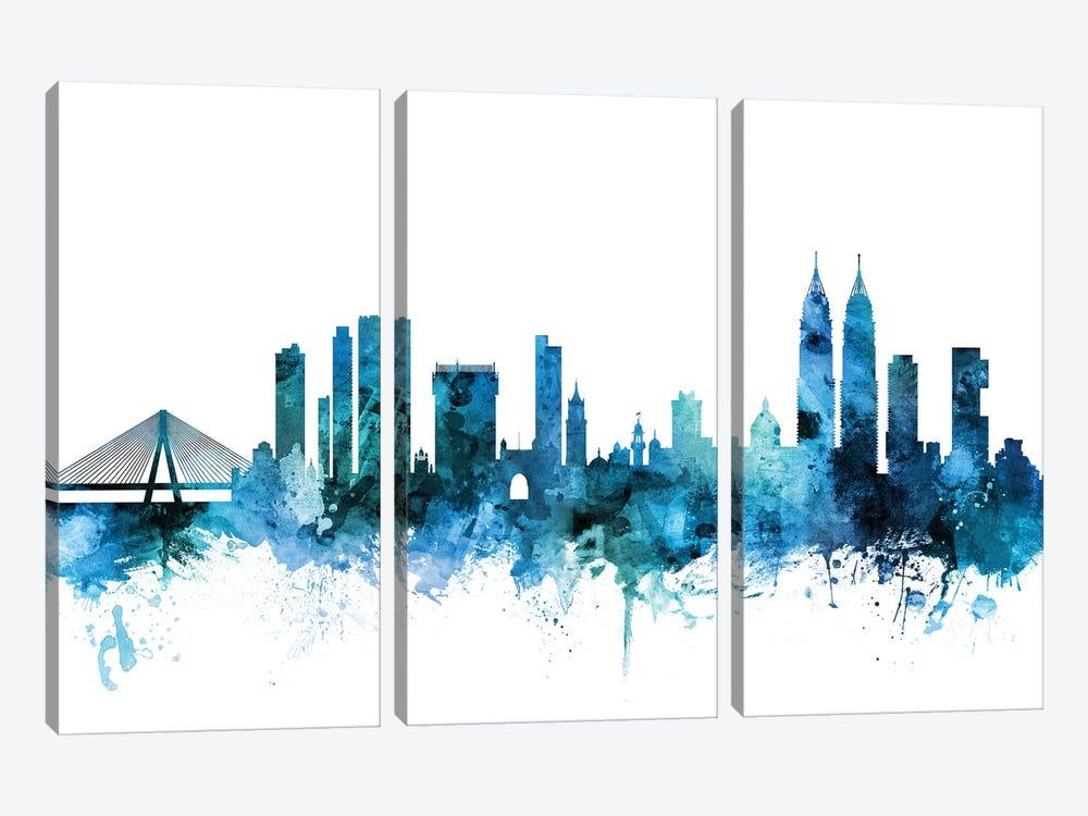 Mumbai, Skyline India  by Michael Tompsett 3-piece Canvas Print