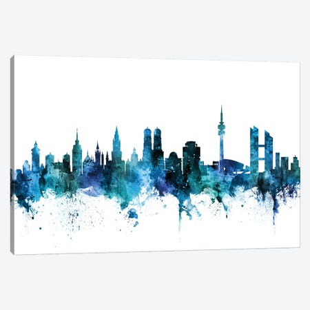 Munich, Germany Skyline Canvas Print #MTO1488} by Michael Tompsett Canvas Artwork