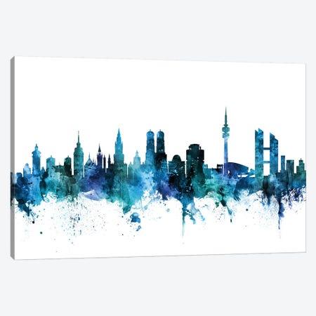 Munich, Germany Skyline Canvas Print #MTO1488} by Michael Tompsett Canvas Artwork