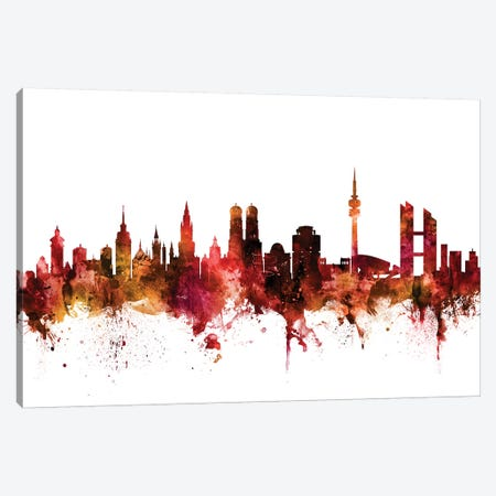 Munich, Germany Skyline Canvas Print #MTO1489} by Michael Tompsett Canvas Wall Art
