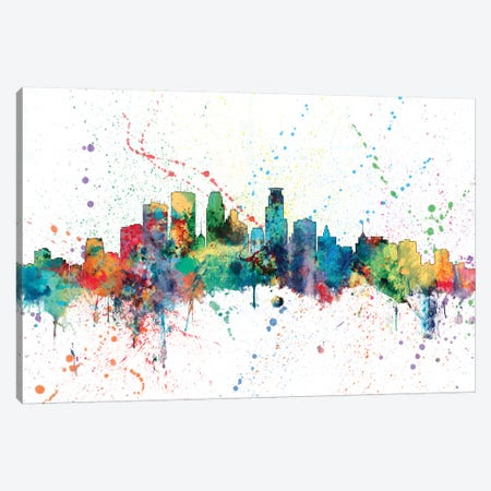 Minneapolis, Minnesota, USA Canvas Print #MTO148} by Michael Tompsett Canvas Wall Art