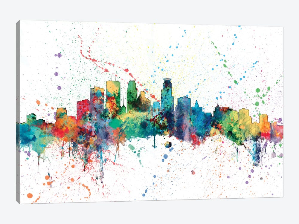 Minneapolis, Minnesota, USA by Michael Tompsett 1-piece Canvas Artwork