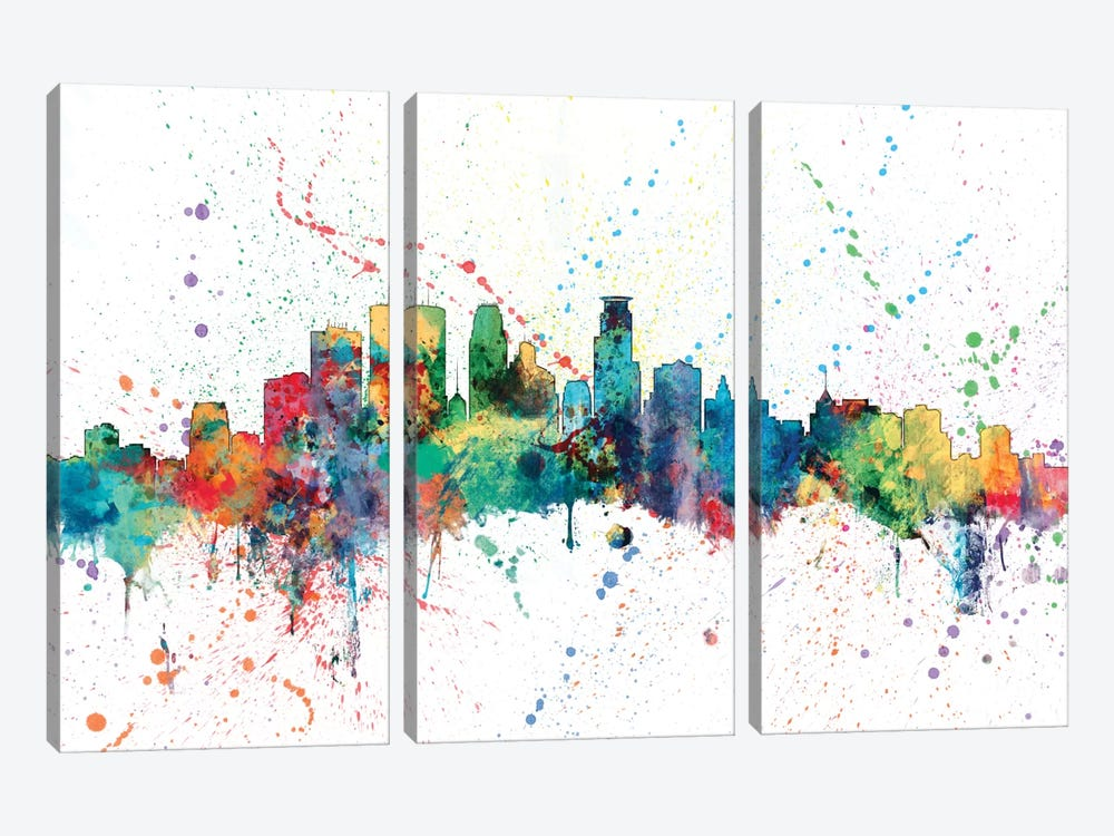 Minneapolis, Minnesota, USA by Michael Tompsett 3-piece Canvas Artwork