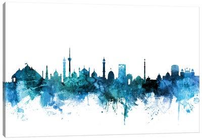 New, Delhi India Skyline Canvas Art Print