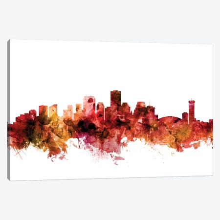New, Orleans Louisiana Skyline Canvas Print #MTO1494} by Michael Tompsett Canvas Artwork