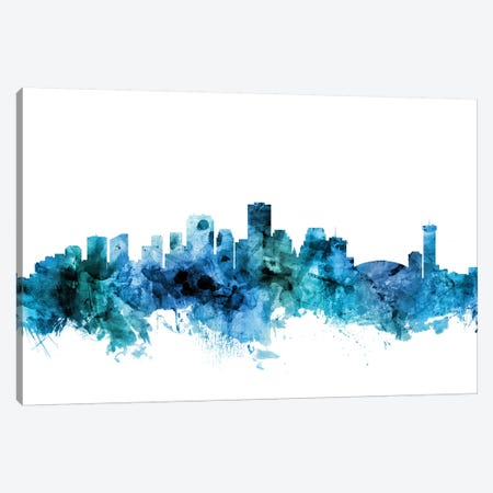 New, Orleans Louisiana Skyline Canvas Print #MTO1495} by Michael Tompsett Canvas Wall Art