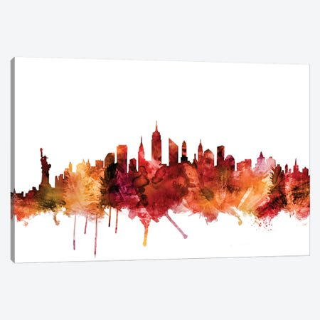 New York City Skyline Canvas Print #MTO1496} by Michael Tompsett Canvas Wall Art