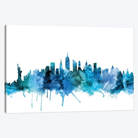 New York City Skyline Canvas Print #MTO1497} by Michael Tompsett Canvas Wall Art