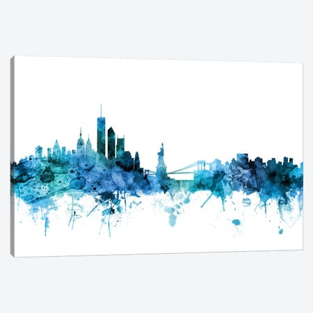 New York Skyline Canvas Print #MTO1498} by Michael Tompsett Canvas Print