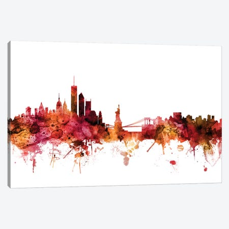 New York Skyline Canvas Print #MTO1499} by Michael Tompsett Canvas Print