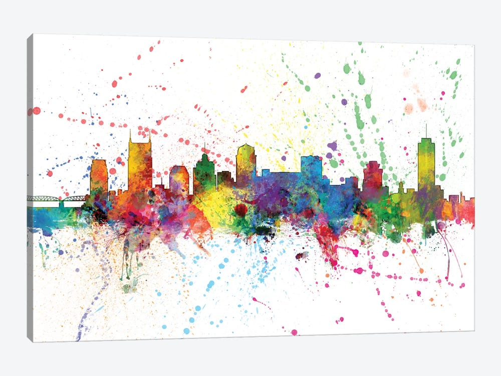 Nashville, Tennessee, USA by Michael Tompsett 1-piece Canvas Print
