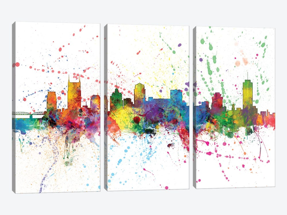 Nashville, Tennessee, USA by Michael Tompsett 3-piece Canvas Print
