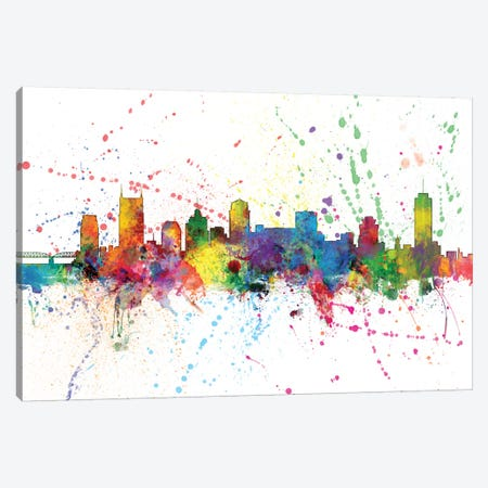 Nashville, Tennessee, USA 3-Piece Canvas #MTO149} by Michael Tompsett Canvas Artwork
