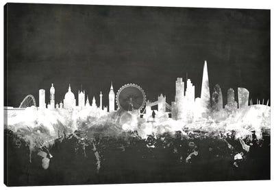 Blackboard Skyline Series: London, England, United Kingdom Canvas Print #MTO14