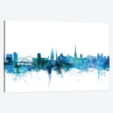 Newcastle, England Skyline Canvas Print #MTO1503} by Michael Tompsett Art Print