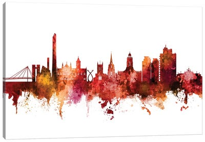 Northampton, England Skyline Canvas Art Print