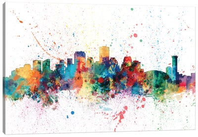 Rainbow Splash Skyline Series: New Orleans, Louisiana, USA Canvas Print #MTO150