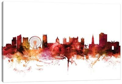 Nottingham, England Skyline Canvas Art Print