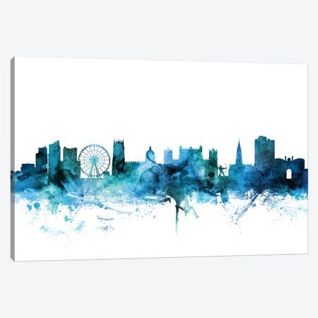 Nottingham, England Skyline Canvas Print #MTO1511} by Michael Tompsett Canvas Wall Art