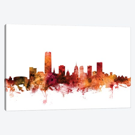 Oklahoma City Skyline Canvas Print #MTO1512} by Michael Tompsett Canvas Art