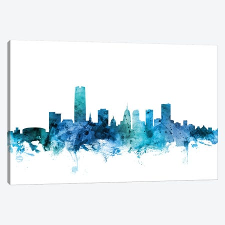 Oklahoma City Skyline Canvas Print #MTO1513} by Michael Tompsett Canvas Artwork
