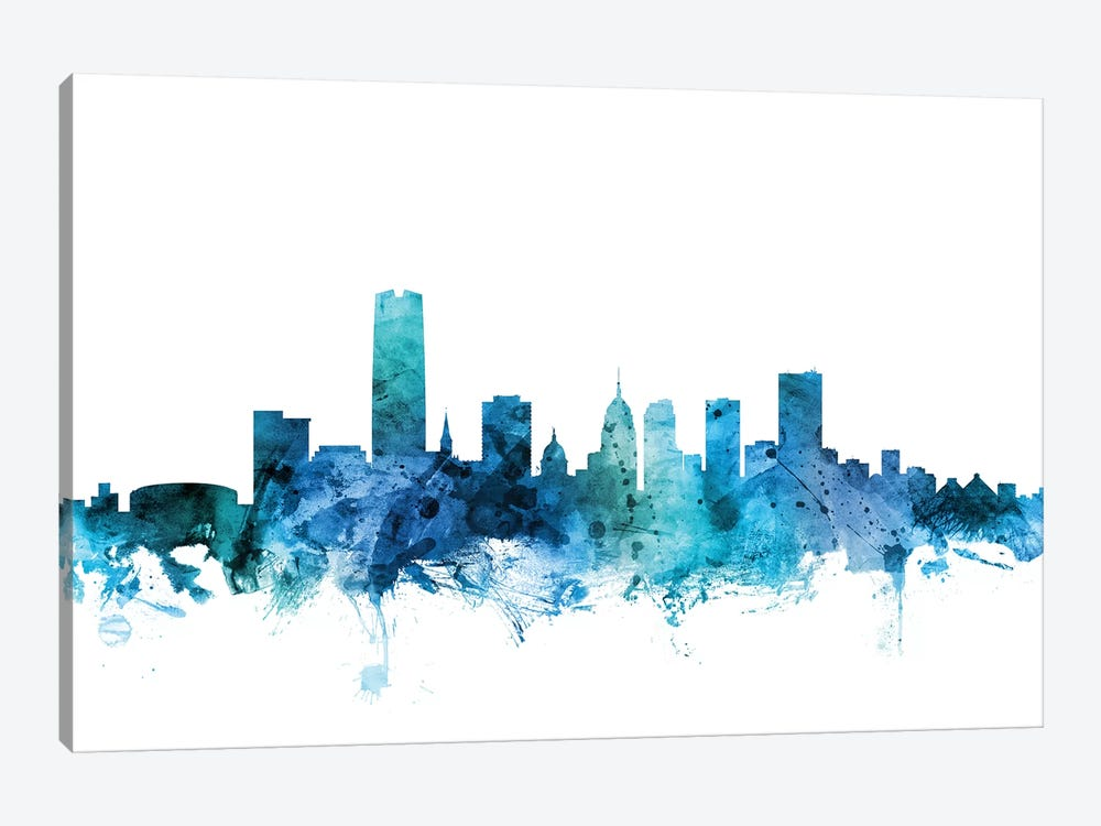 Oklahoma City Skyline by Michael Tompsett 1-piece Canvas Print