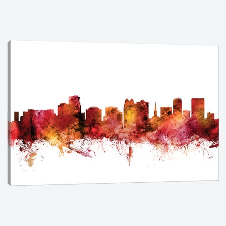Orlando, Florida Skyline Canvas Print #MTO1514} by Michael Tompsett Canvas Art Print