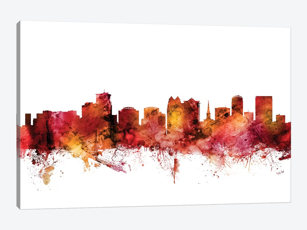 Orlando, Florida Skyline by Michael Tompsett 1-piece Canvas Artwork