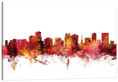 Orlando, Florida Skyline Canvas Art Print