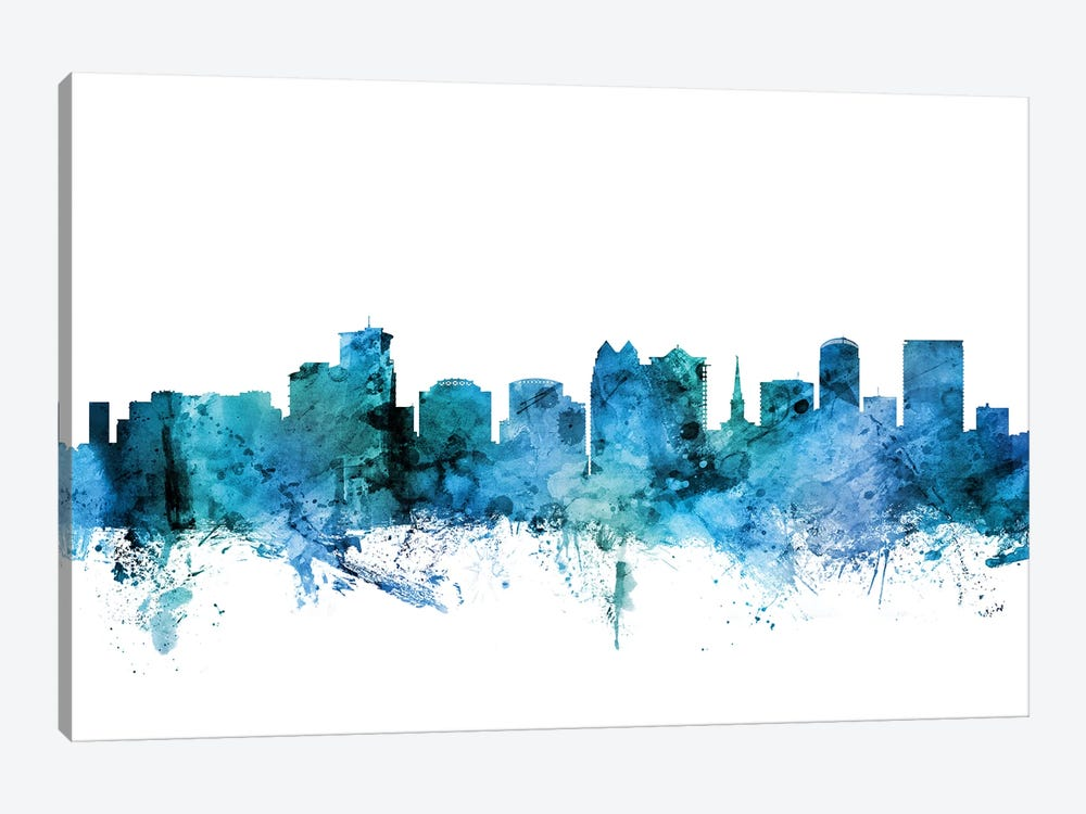 Orlando, Florida Skyline by Michael Tompsett 1-piece Canvas Print