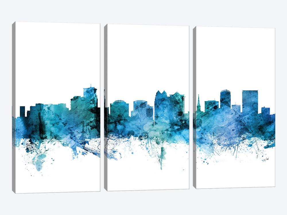 Orlando, Florida Skyline by Michael Tompsett 3-piece Canvas Print