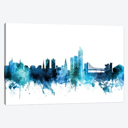 Oslo, Norway Skyline Canvas Print #MTO1517} by Michael Tompsett Canvas Art Print