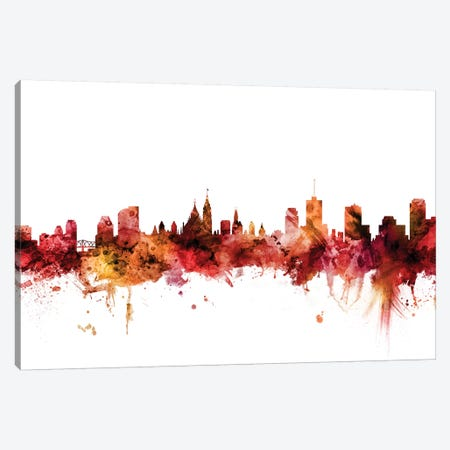 Ottawa, Canada Skyline Canvas Print #MTO1518} by Michael Tompsett Canvas Artwork