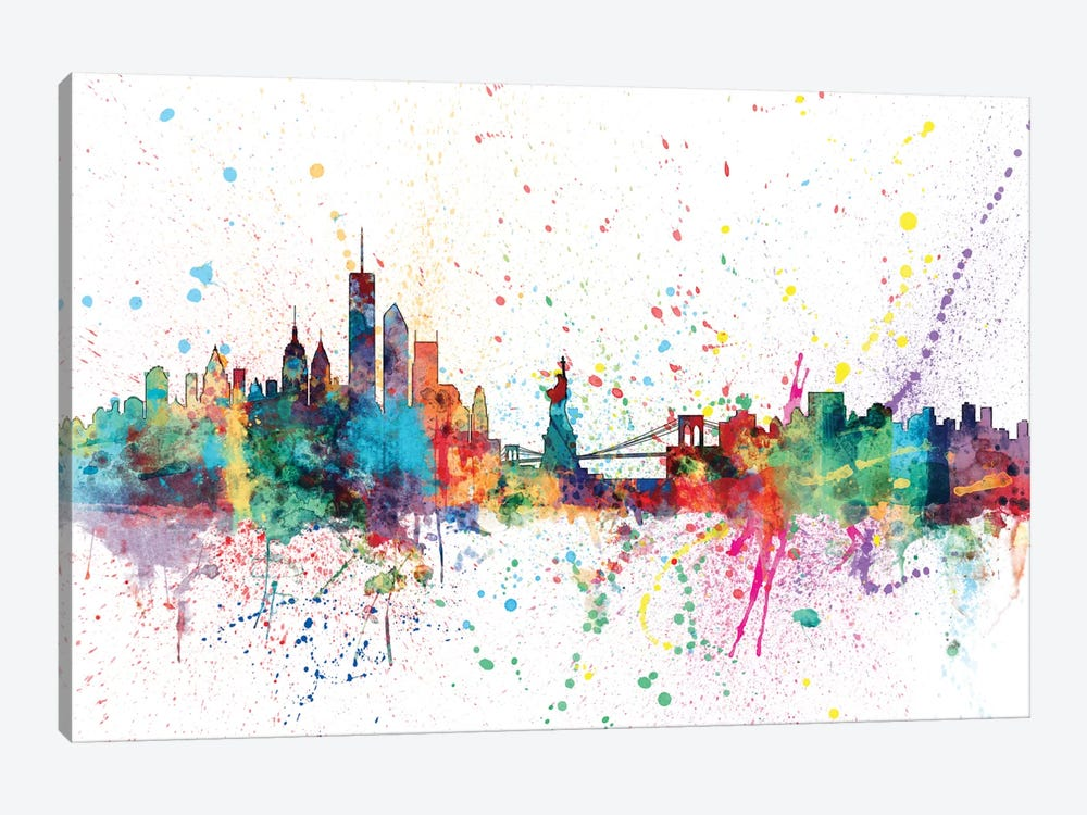 New York City, New York, USA by Michael Tompsett 1-piece Canvas Wall Art