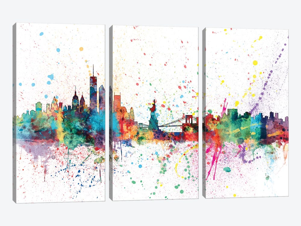New York City, New York, USA by Michael Tompsett 3-piece Canvas Artwork