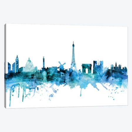 Paris, France Skyline Canvas Print #MTO1522} by Michael Tompsett Canvas Print