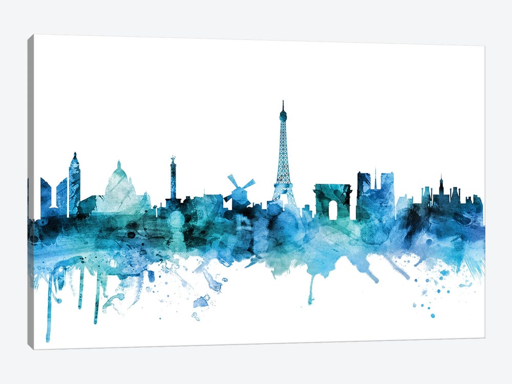Paris, France Skyline 1-piece Canvas Print