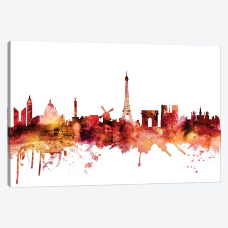 Paris, France Skyline Canvas Print #MTO1523} by Michael Tompsett Canvas Print