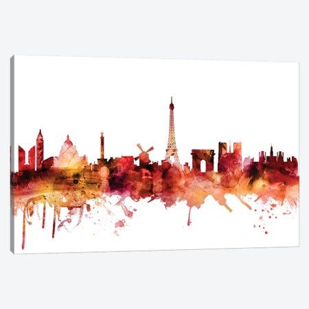 Paris, France Skyline Canvas Print #MTO1523} by Michael Tompsett Canvas Print
