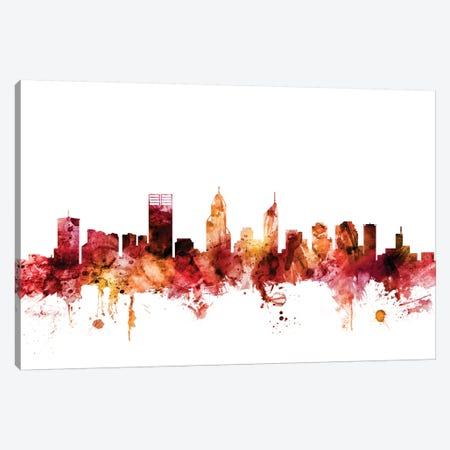 Perth, Australia Skyline Canvas Print #MTO1524} by Michael Tompsett Canvas Wall Art