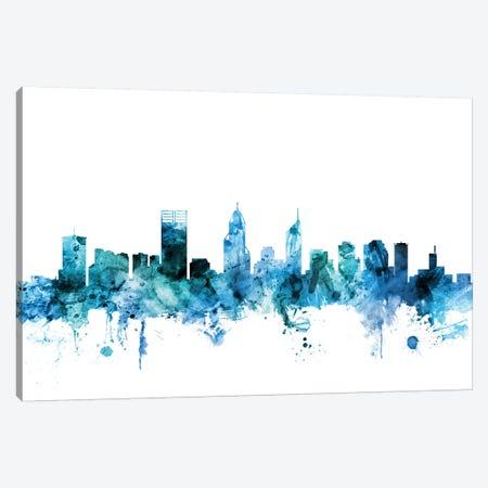 Perth, Australia Skyline Canvas Print #MTO1525} by Michael Tompsett Canvas Artwork