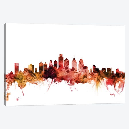 Philadelphia, Pennsylvania Skyline Canvas Print #MTO1526} by Michael Tompsett Canvas Artwork