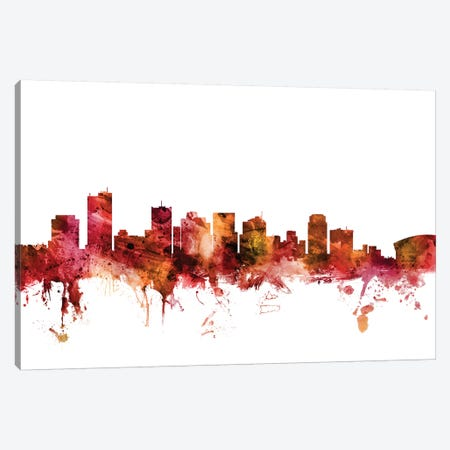 Phoenix, Arizona Skyline Canvas Print #MTO1528} by Michael Tompsett Art Print