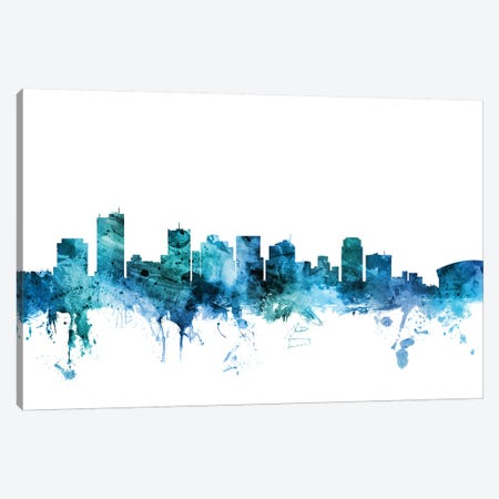 Phoenix, Arizona Skyline Canvas Print #MTO1529} by Michael Tompsett Canvas Print